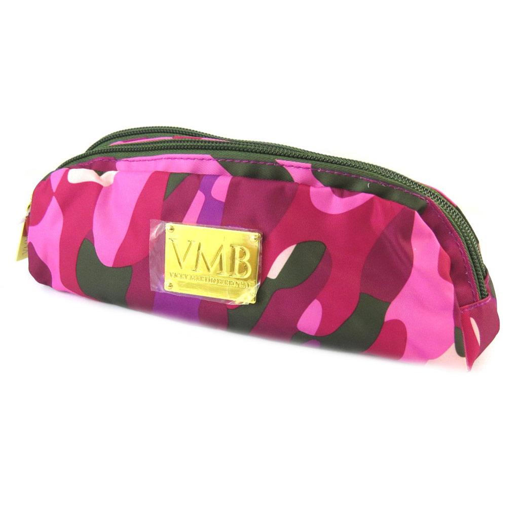 Trousse \'VMB\' rose camouflage (2 compartiments) - [N7512]