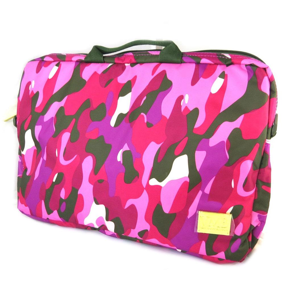 Sac ordinateur \'VMB\' rose camouflage (156\') - 405x285x5 cm - [N7513]