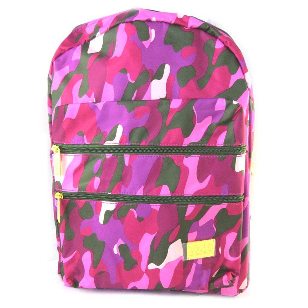 Grand Sac à dos \'VMB\' rose camouflage - 43x30x20 cm - [N7514]