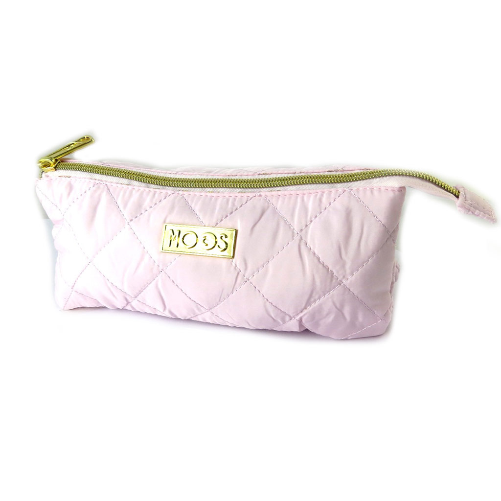 Trousse \'Moos\' rose pâle (3 compartiments) - [N7520]