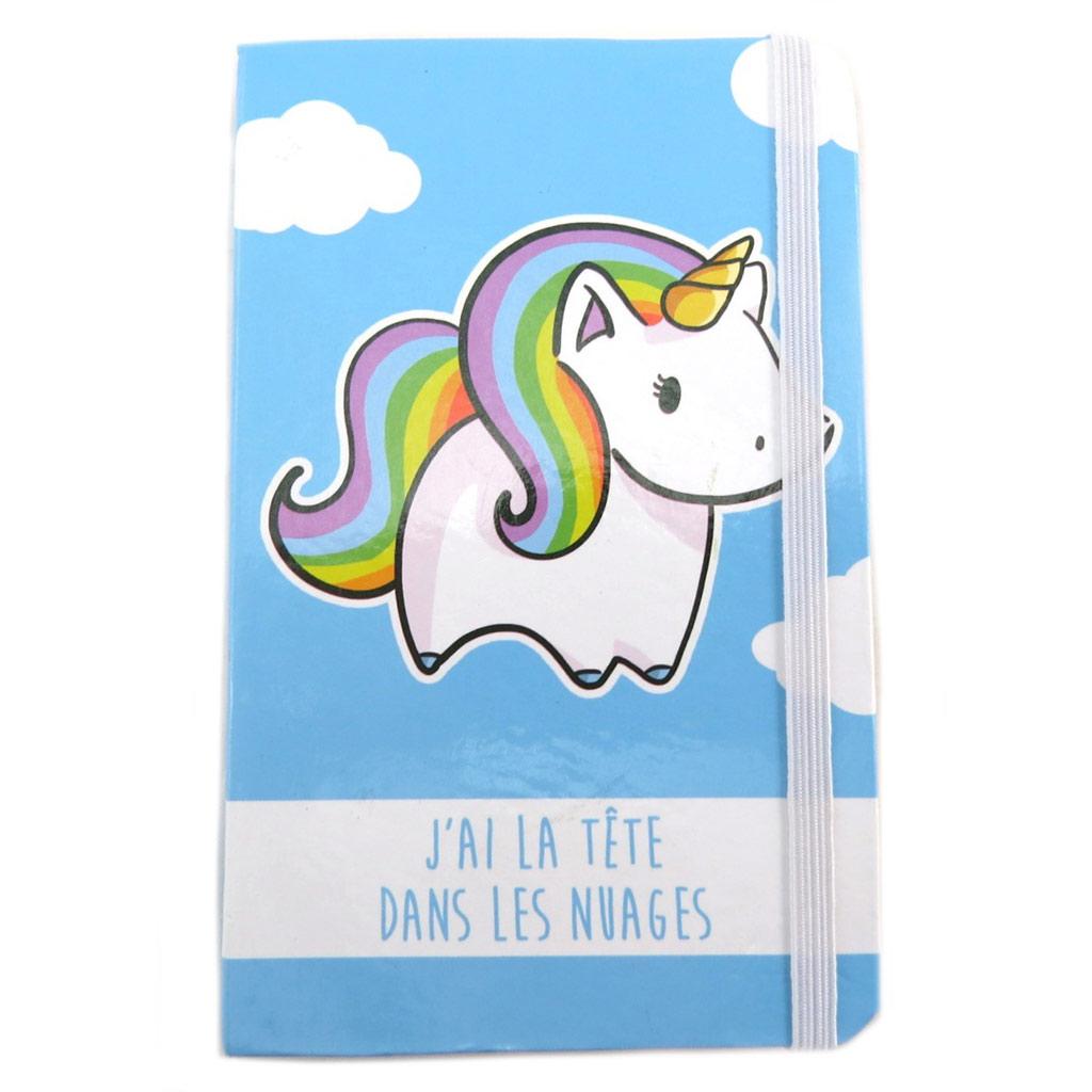 Carnet Intime \'Licorne My Unicorn\' bleu (J\'ai la tête dans les nuages) - 145x95 cm - [N7992]