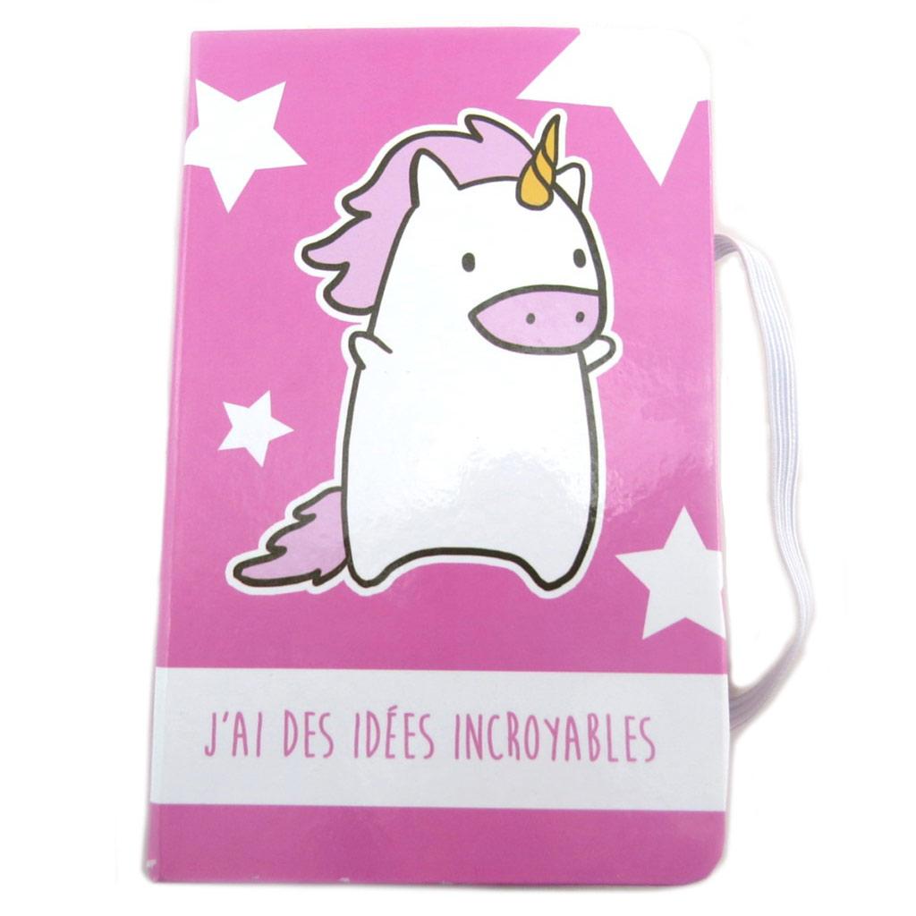 Carnet Intime \'Licorne My Unicorn\' rose (J\'ai des idées incroyables) - 145x95 cm - [N7993]