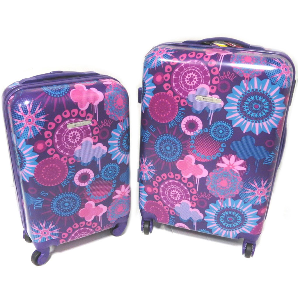 Set de 2 valises trolley ABS \'Gabol\' violet - 66x44x28 et 50x34x19 cm - [N9351]