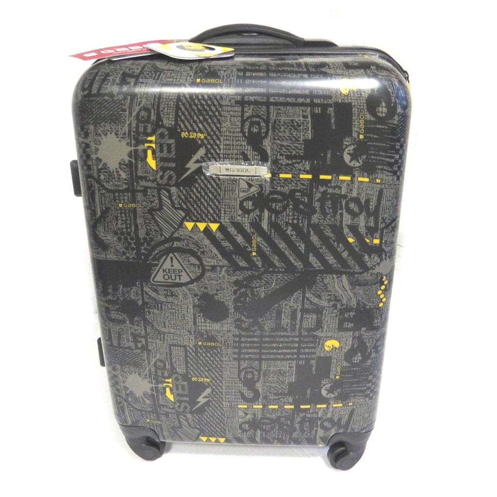 Valise trolley ABS \'Gabol\' gris - 44x64x25 cm - [N9354]