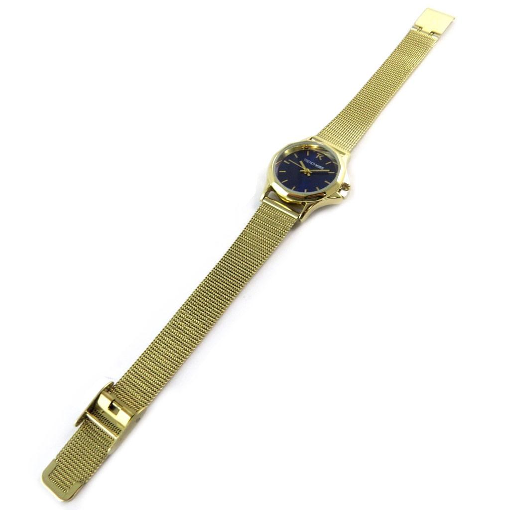 Montre analogique femme \'Trendy\' bleu doré - [N9491]