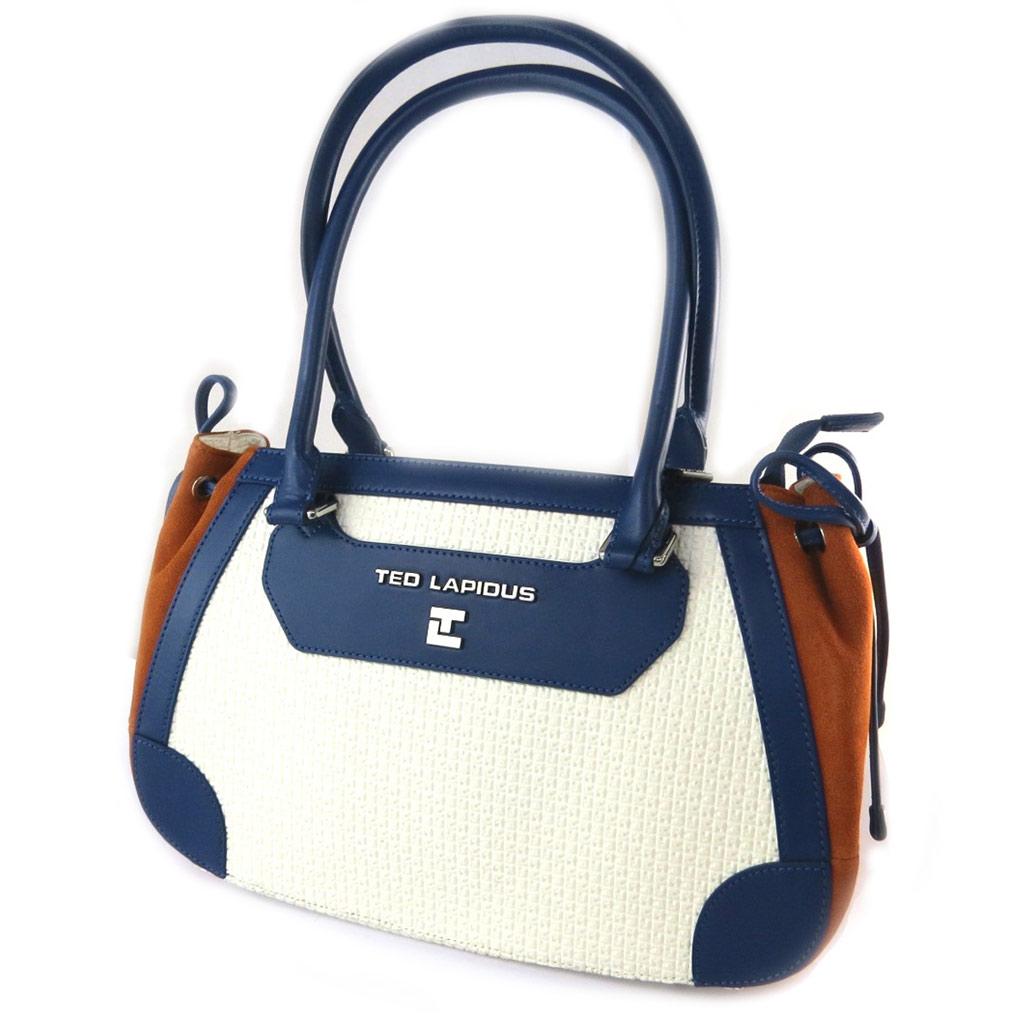 Sac \'Ted lapidus\' blanc bleu orange - 36x235x13 cm - [N9676]