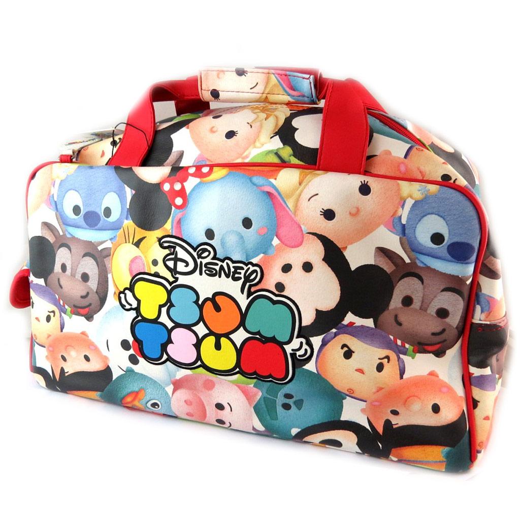 Sac de voyage \'Disney Tsum Tsum\' rouge tutti frutti - 44x24x24 cm - [N9719]
