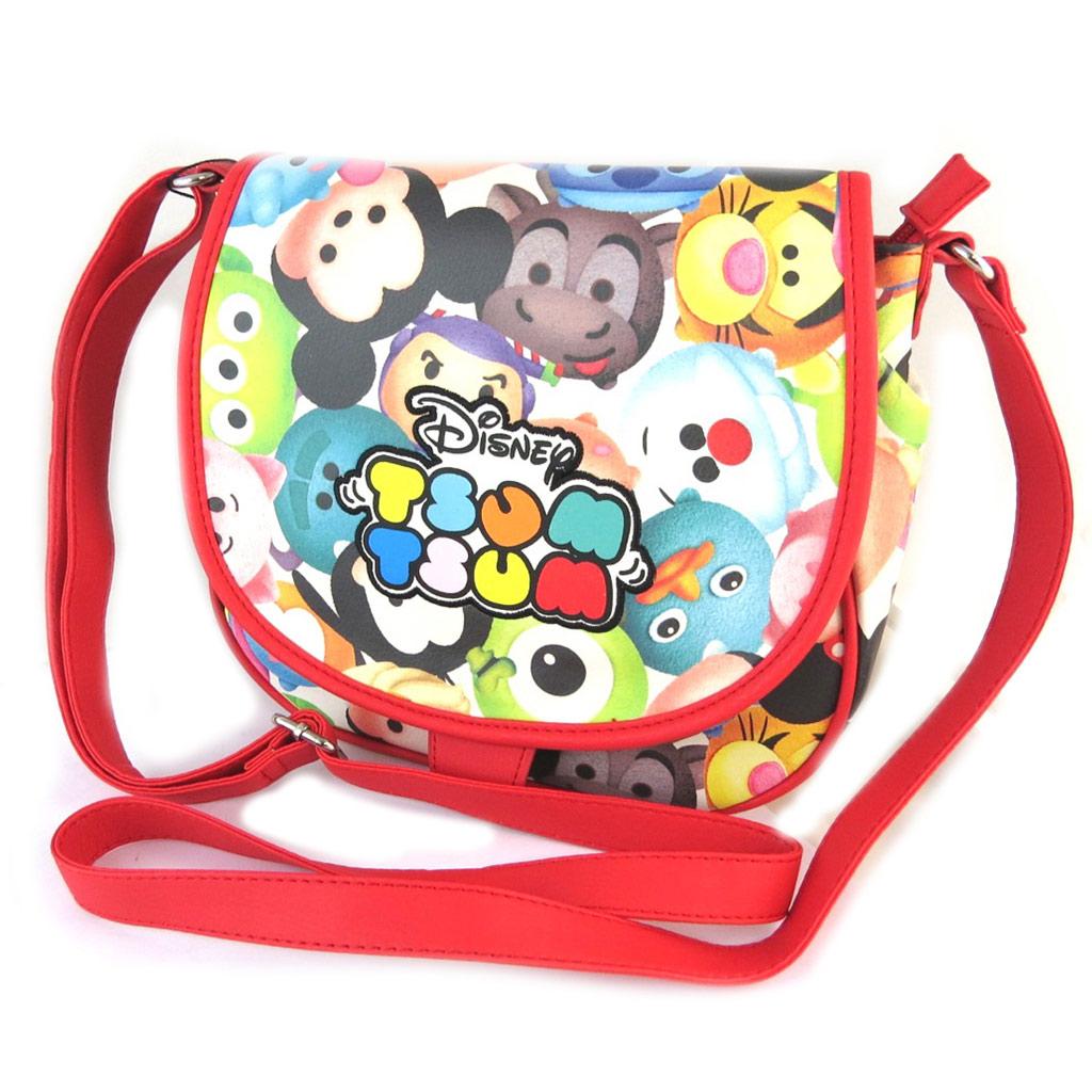 Sac bandoulière \'Disney Tsum Tsum\' rouge multicolore - 28x21x7 cm - [N9725]