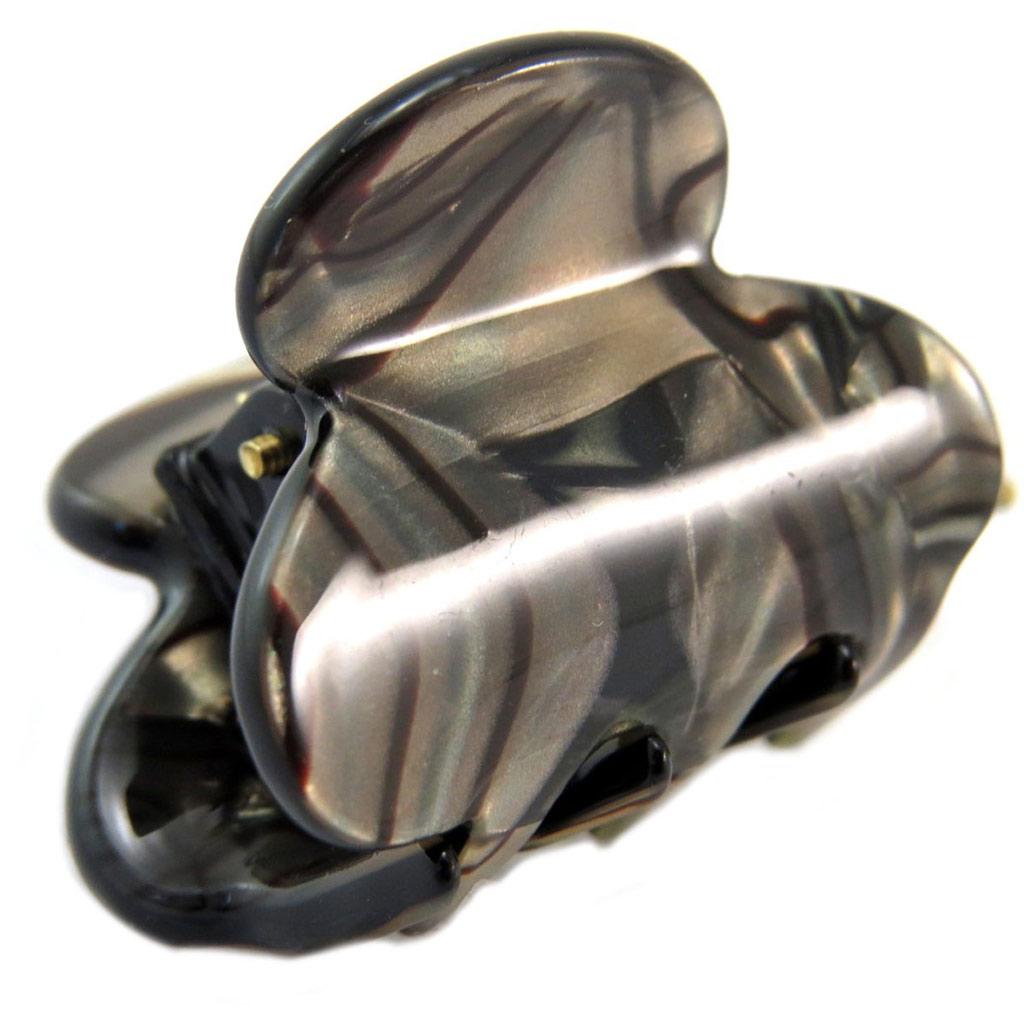 Mini pince créateur \'Sissi\' gris taupe - 30x20 mm - [P6071]