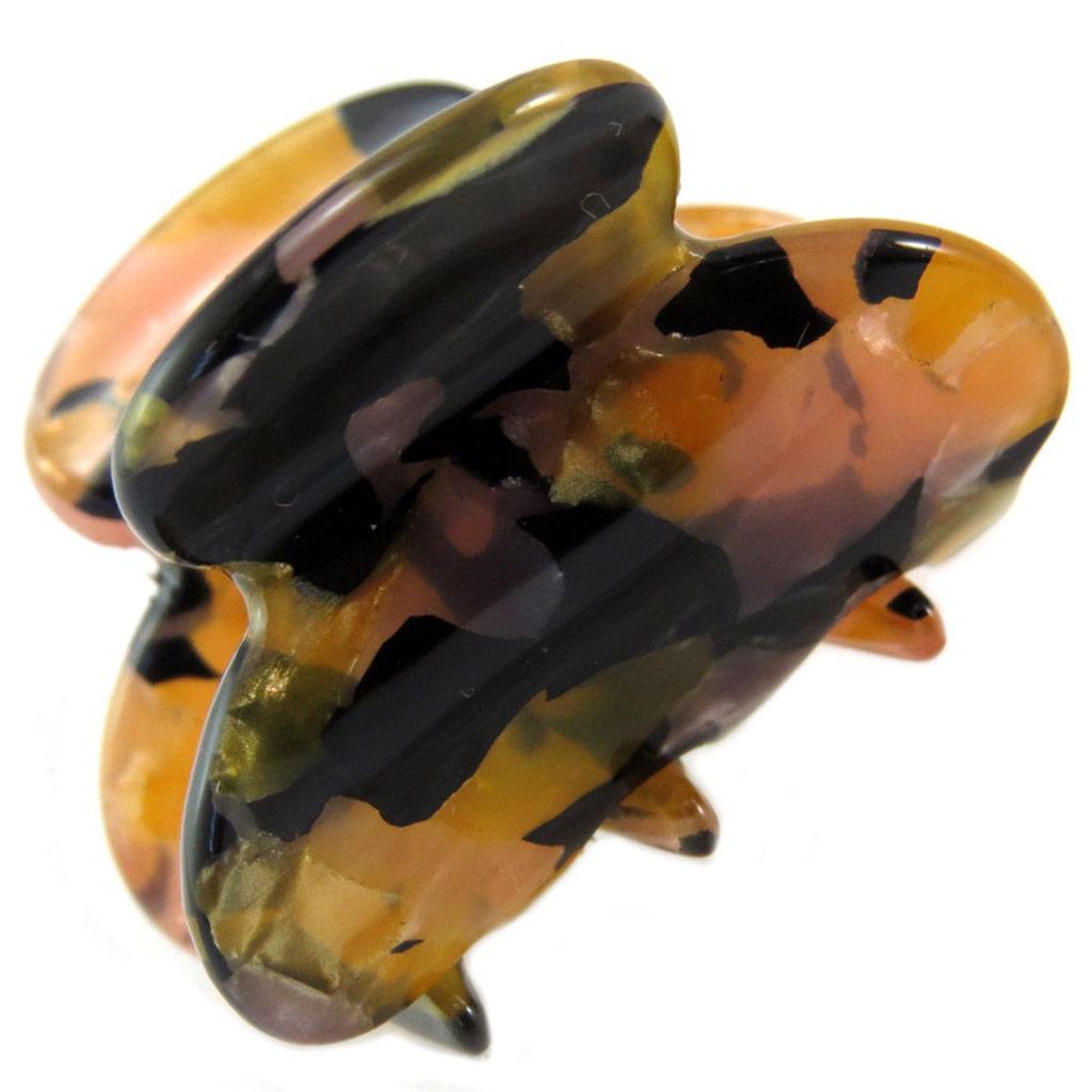Mini pince créateur \'Sissi\' ambre noir - 30x20 mm - [P6073]
