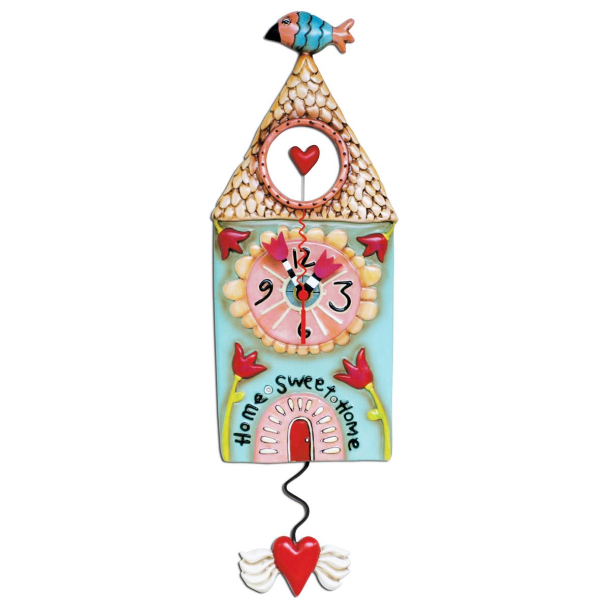 Horloge Murale \'Allen Designs\' multicolore (Home sweet home) - 41x125 cm - [P6181]