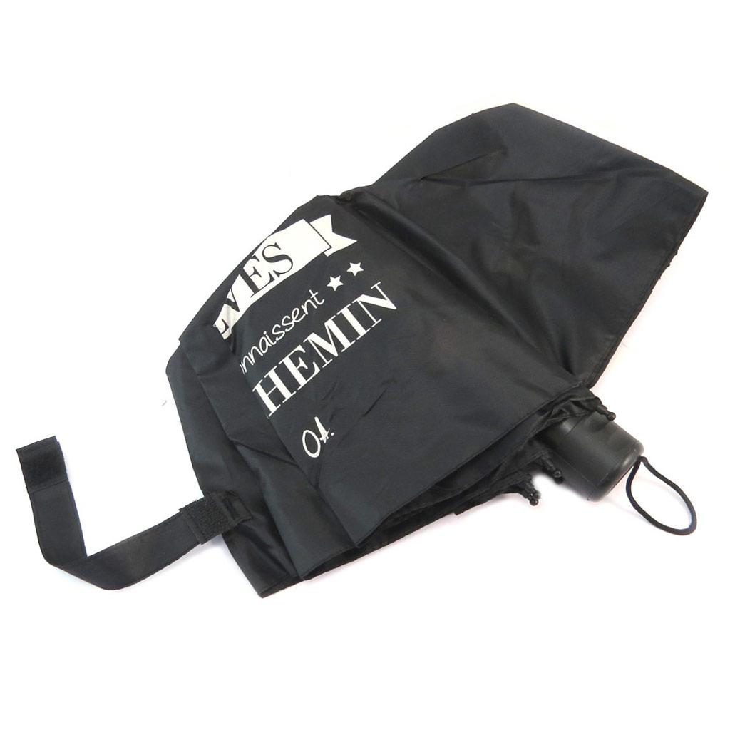 Parapluie mini manuel \'Messages\' noir (Suivez vos rêves ils connaissent le chemin - OA) - 23x5 cm - [P6205]