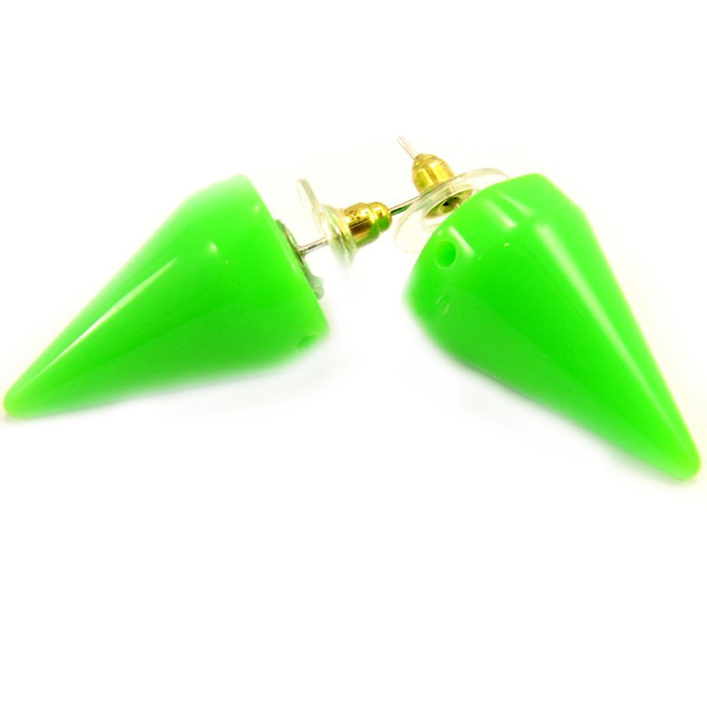 Maxi boucles \'Coloriage\' vert - [L4798]