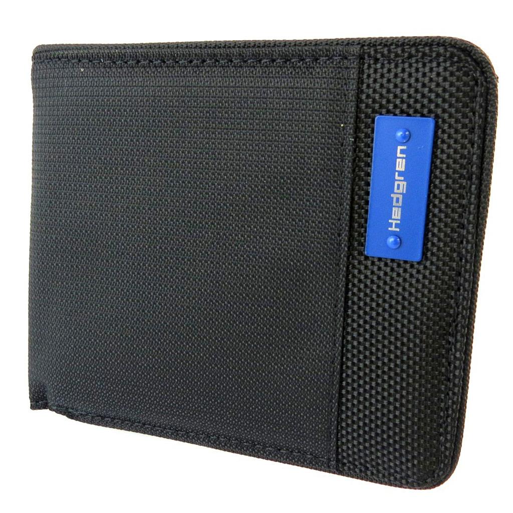 Portefeuille italien \'Hedgren\' noir - 12x10x2 cm - [N9970]