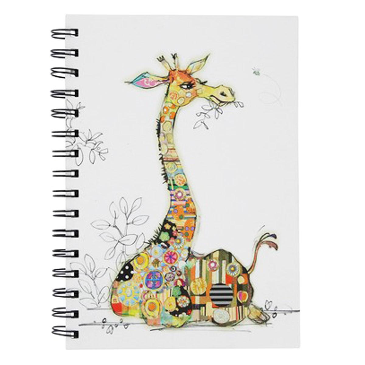 Carnet à spirales A6 \'Bug Art\' multicolore (Girafe Gerry) - 145x105x12 cm - [Q2810]