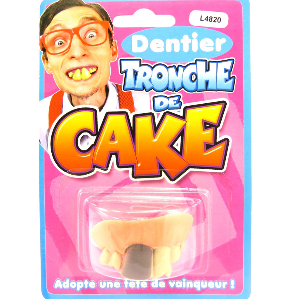 Fausses dents \'Tronche de Cake\'  - [L4820]