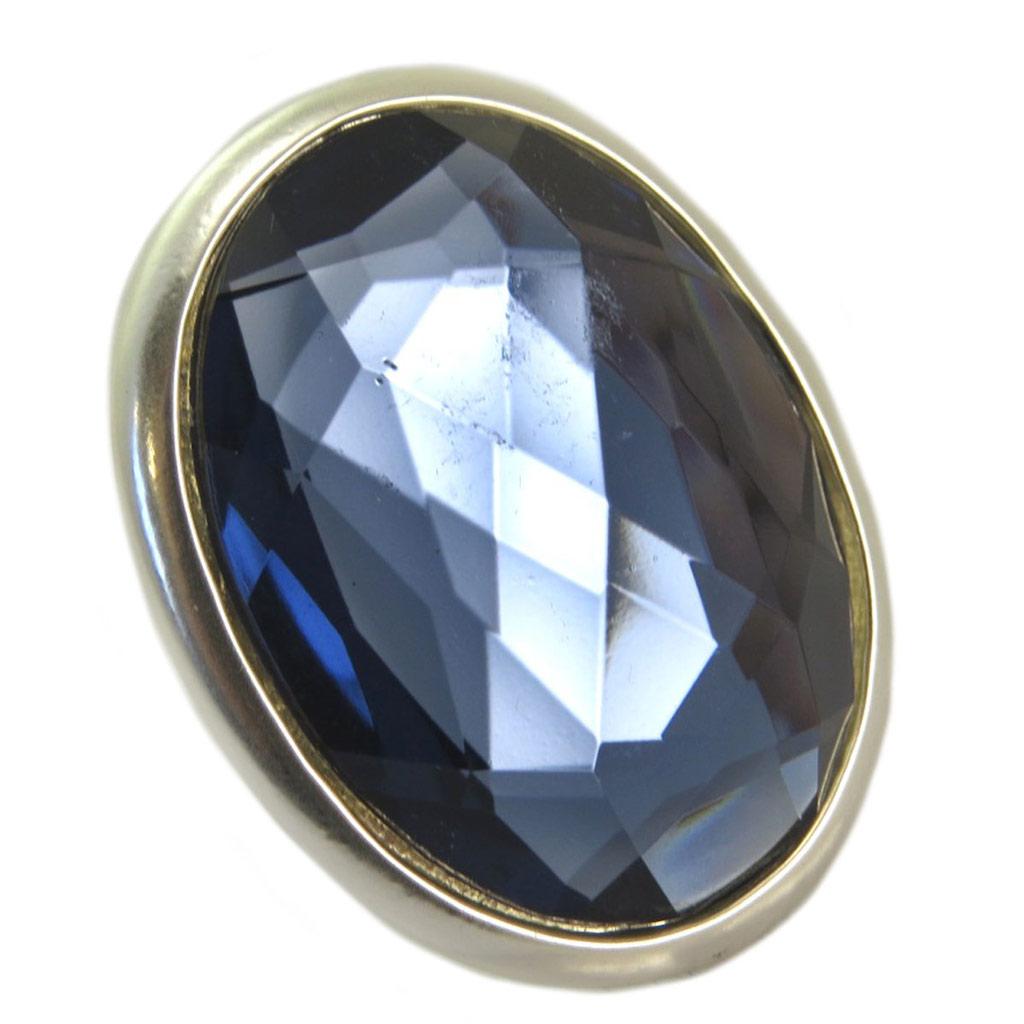 Bague Créateur \'Sissi\' bleu argenté - 43x35 mm - [P6424]