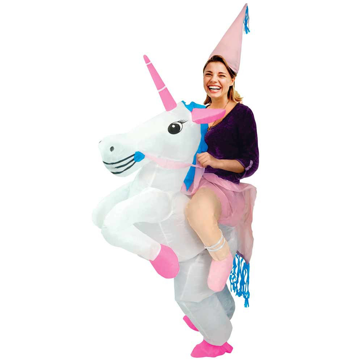 Costume autogonflable \'Licorne My Unicorn\' rose blanc - [Q3013]