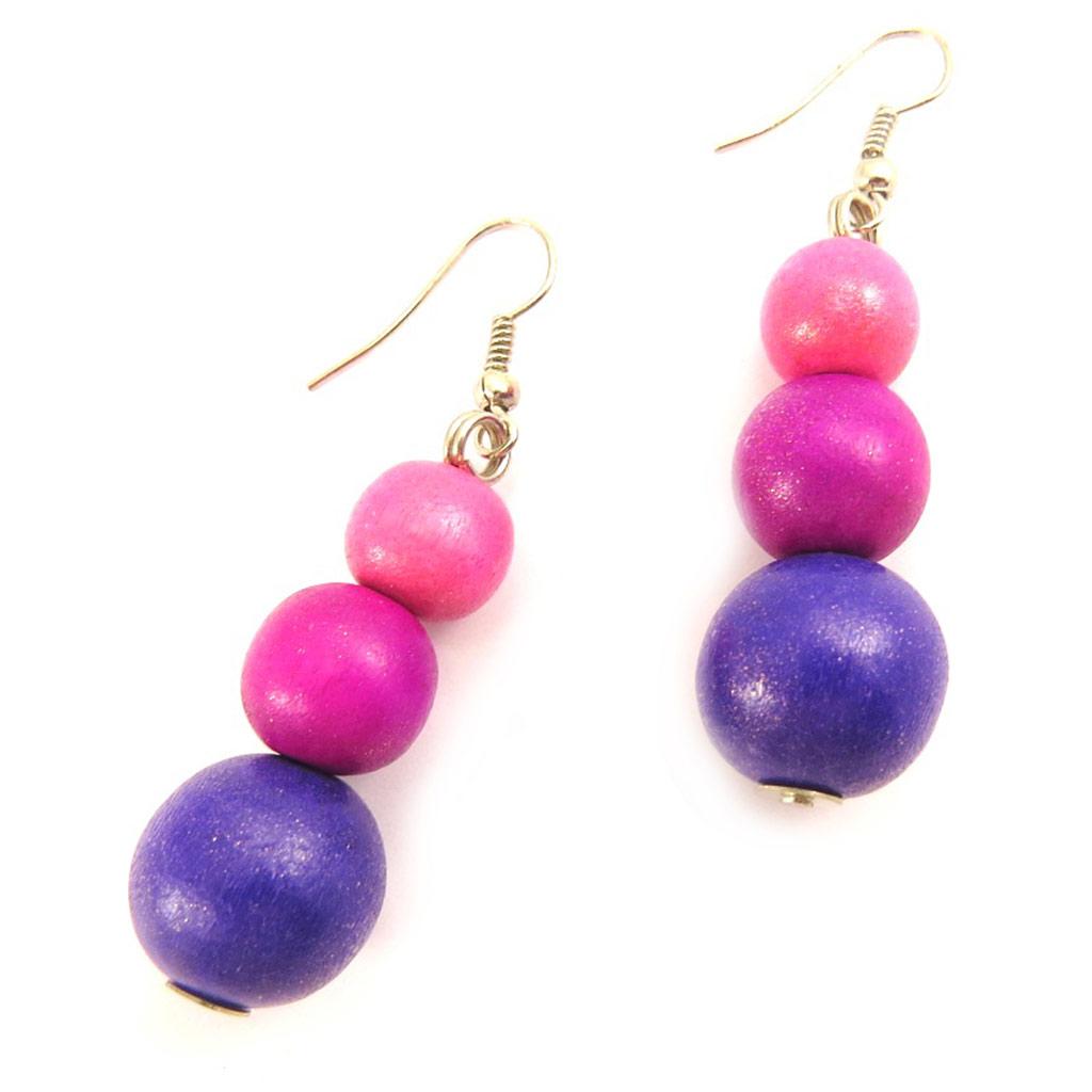 Boucles \'Amazonia\' bois rose violet - [L5174]