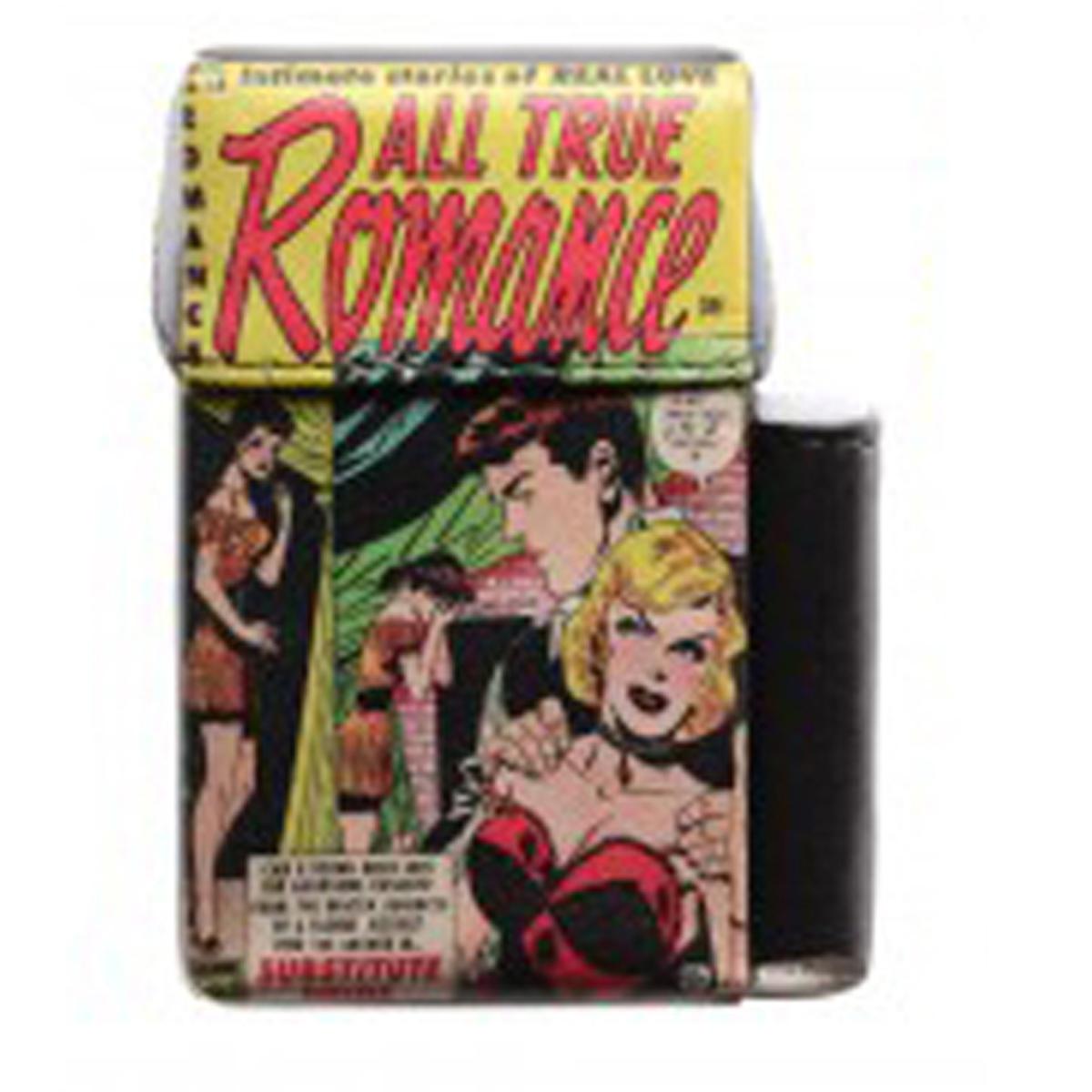 Etui paquet de cigarettes \'Bandes Dessinées\' vintage (All true romance) - 93x55x25 mm - [Q3064]