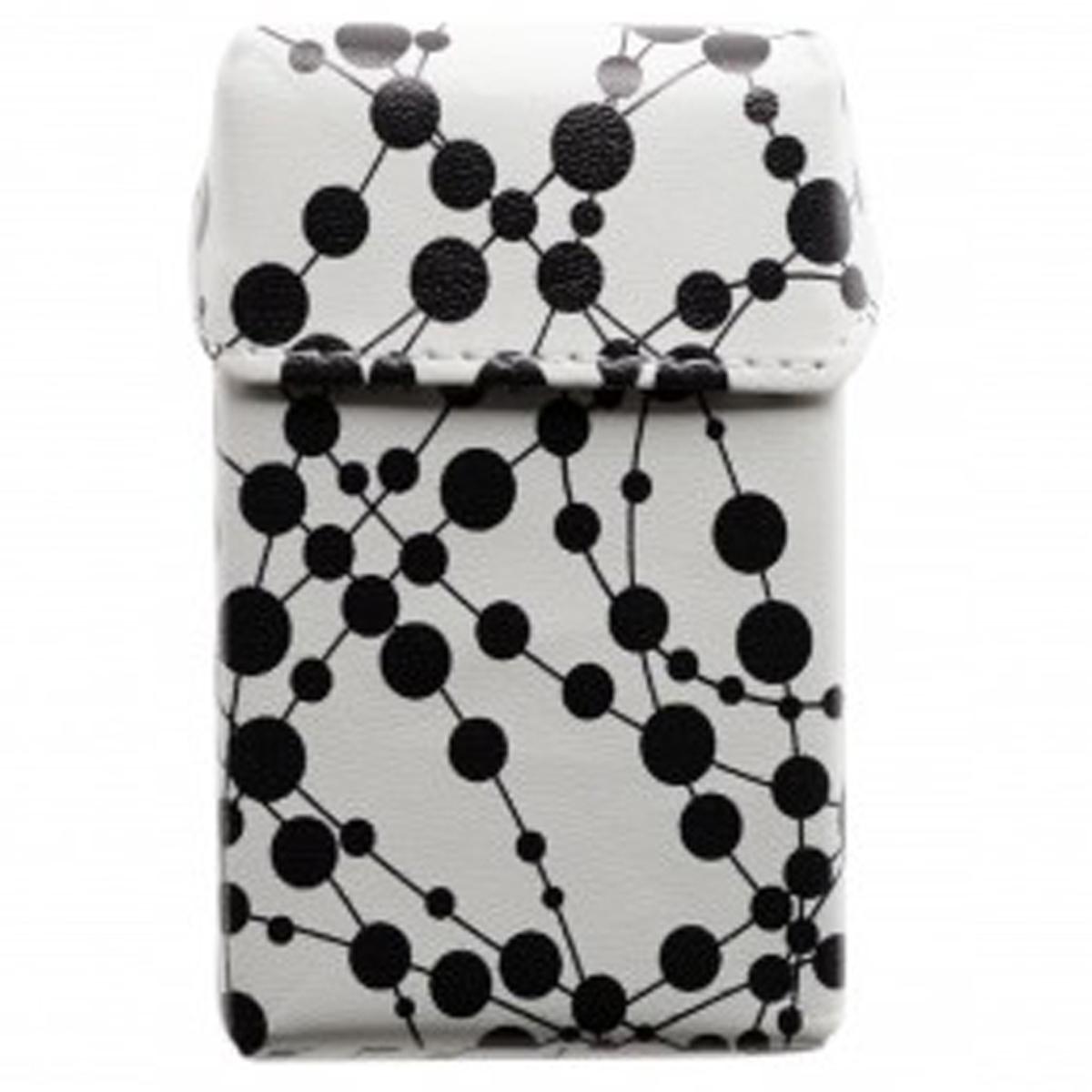 Etui paquet de cigarettes \'Art Déco\' blanc noir - 90x55x25 mm - [Q3071]