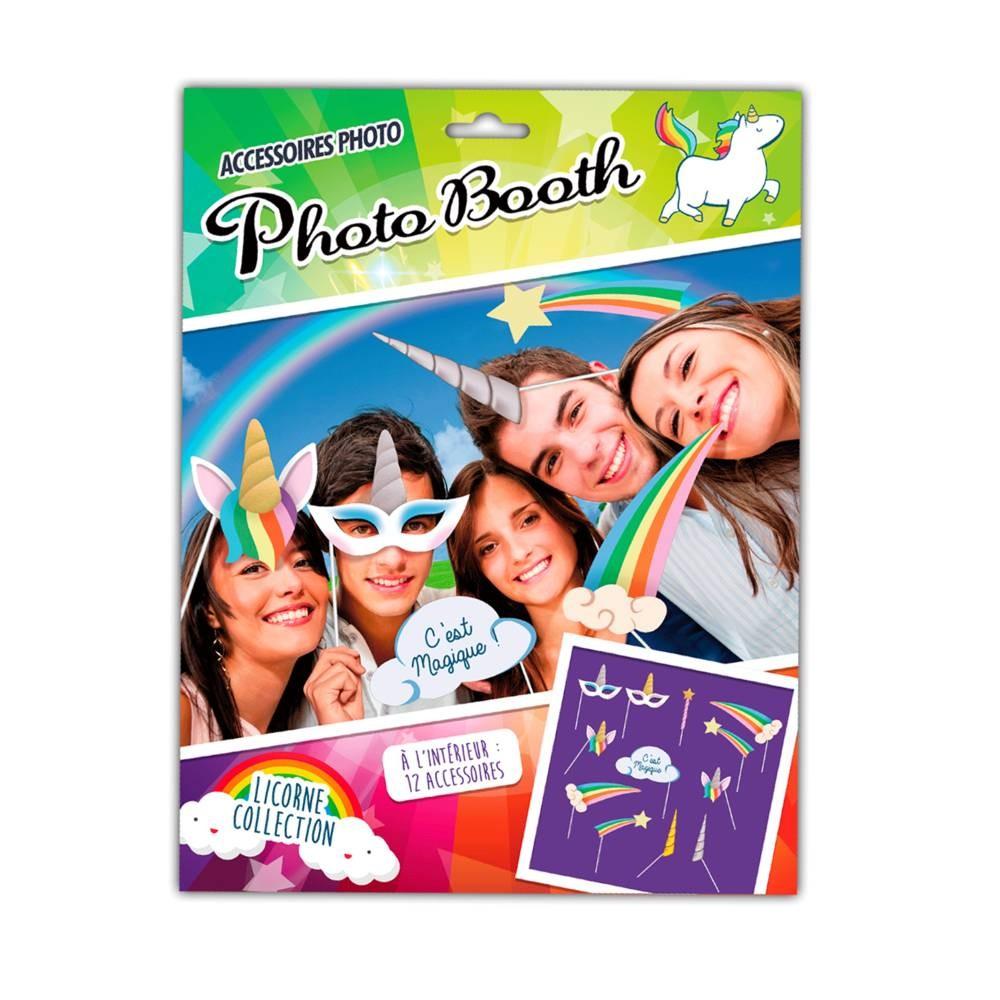 Accessoires \'Photo booth\'  (12 pièces) Licorne My Unicorn - [Q3151]