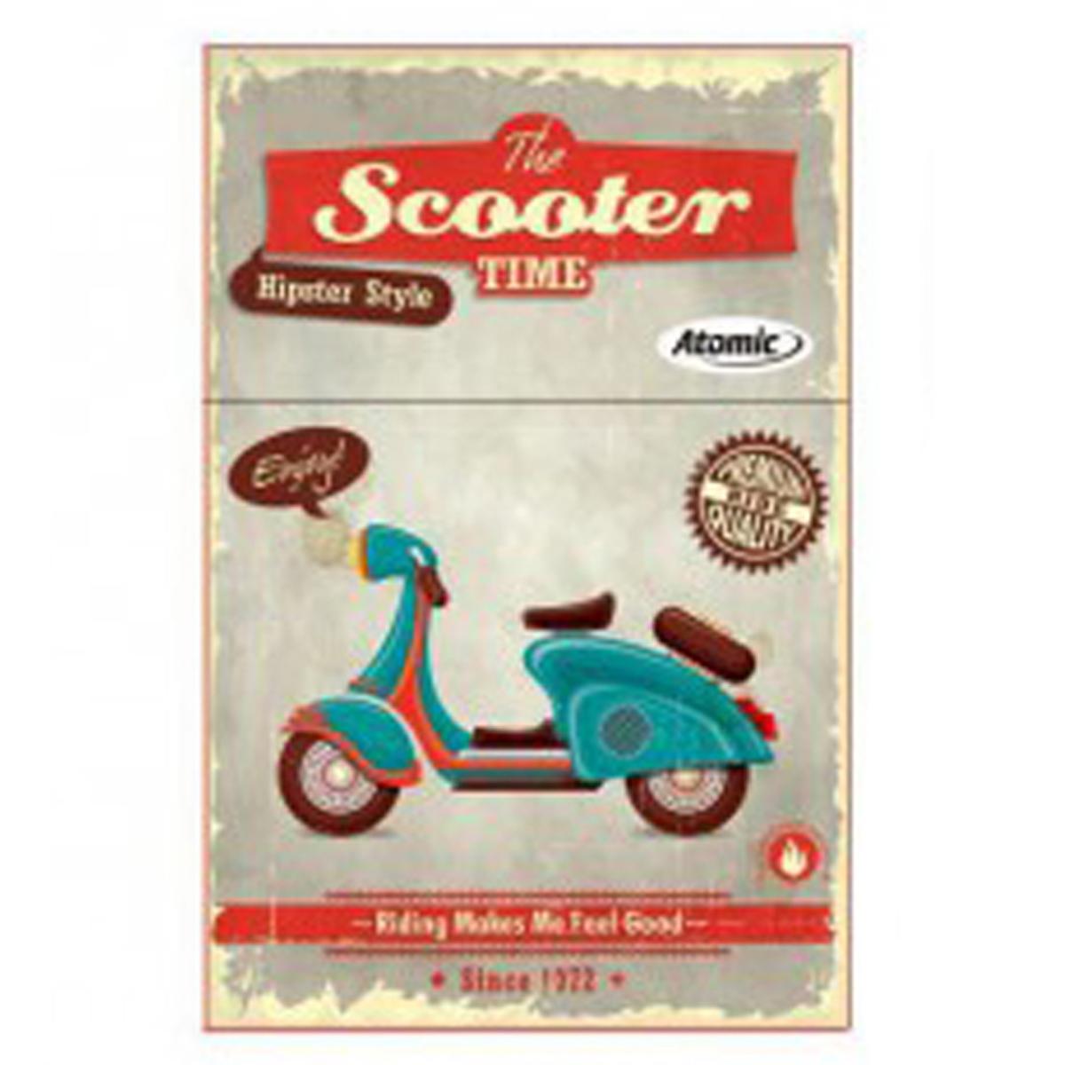 Etui à paquet de cigarettes \'Scooter Rétro\' marron (the Scooter time) - 85x5 cm - [Q3225]