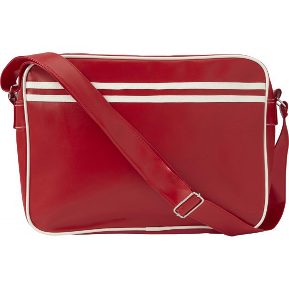 Sac bandoulière \'Académie\' rouge - 38x28 cm - [Q3230]