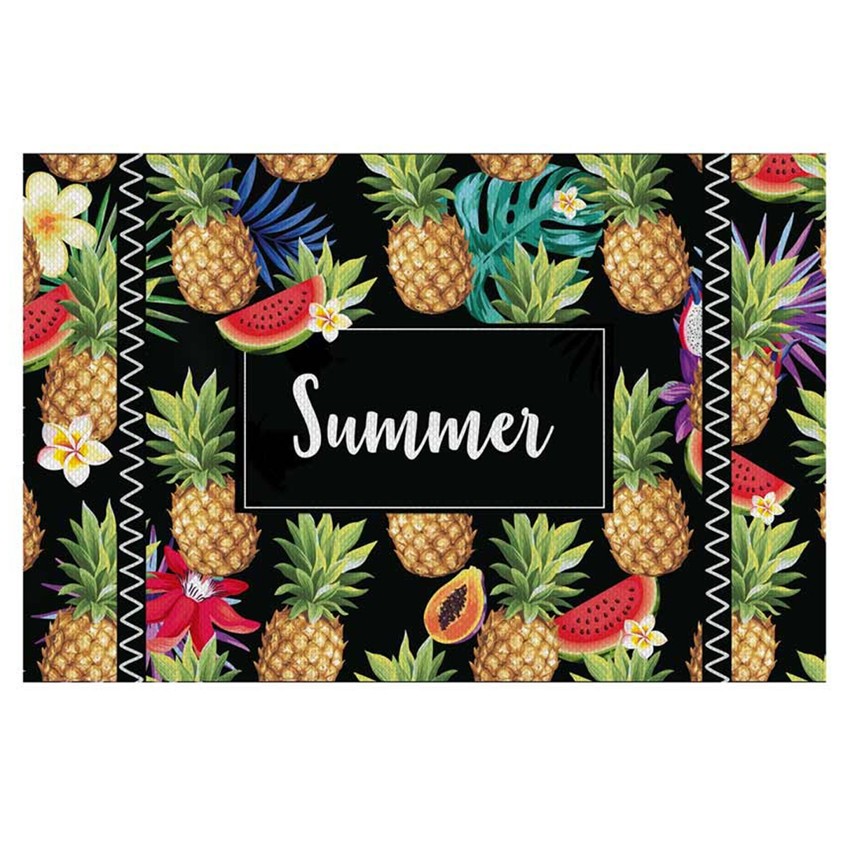 Set de table plastifié \'Tropical\' ananas (Summer) - 43x28 cm - [Q3243]