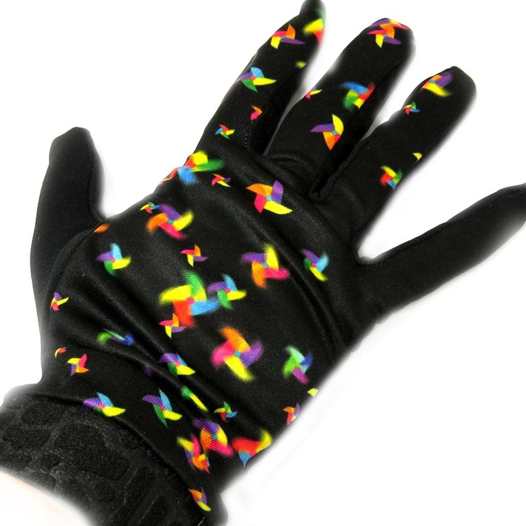 Gants créateur \'Eole\' noir multicolore - [L5378]