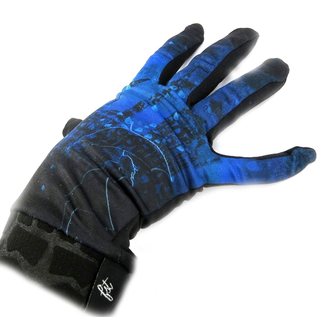 Gants créateur \'Piccadilly\' bleu noir - [L5391]