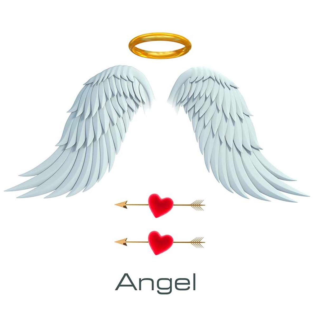Planche de stickers \'Angel\' (50x70 cm) - [L5452]