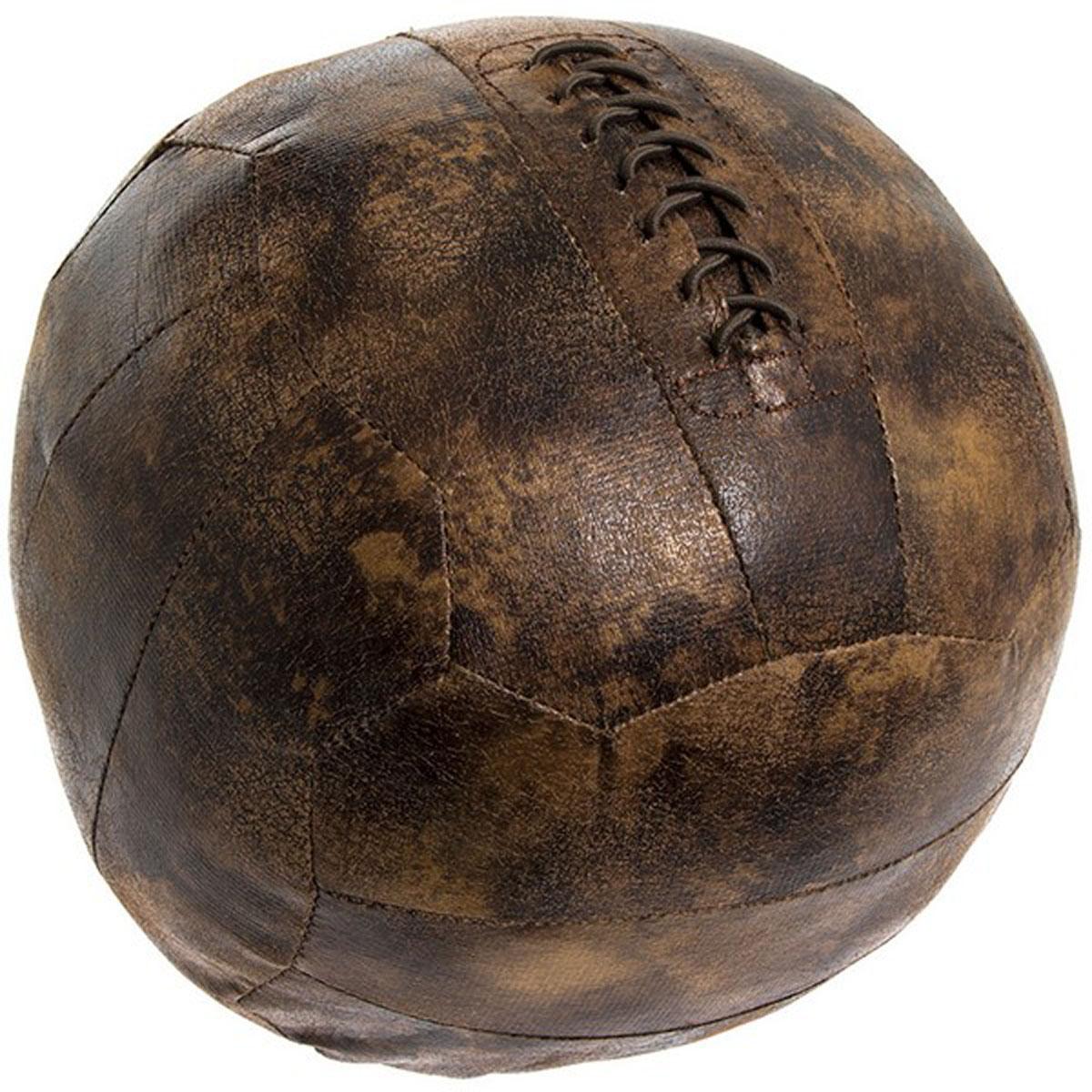 Cale porte façon cuir \'Ballon\' marron - 21 cm - [Q3575]