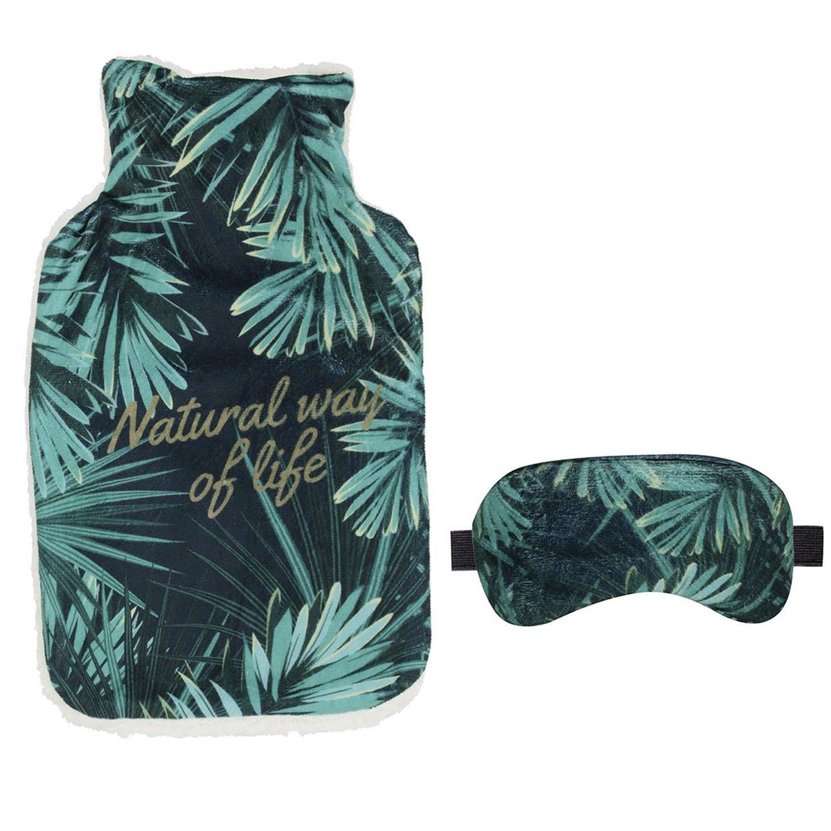 Bouillotte & masque \'Jungle\' (Natural way of life) - 345x21x45 (2L) - [Q3843]