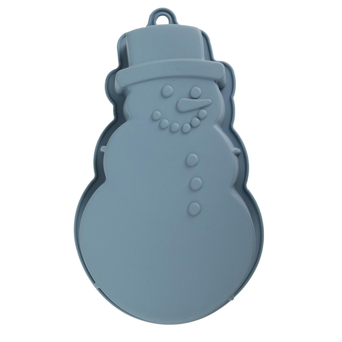 Moule silicone \'Bonhomme de neige\' gris - 26x17 cm - [Q3848]
