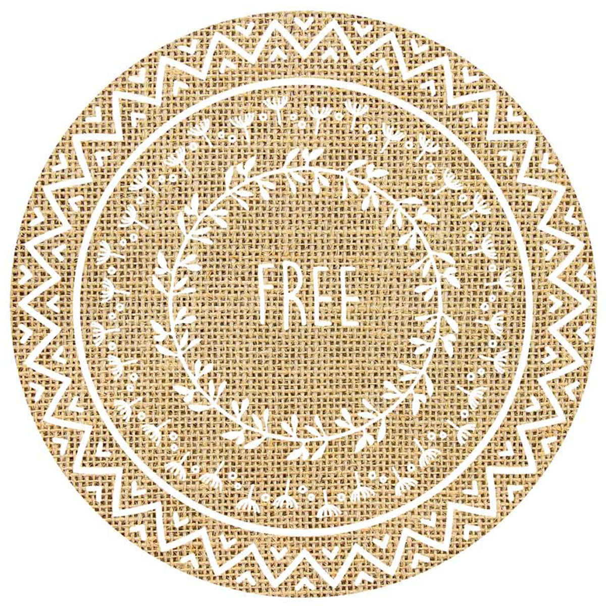 Set de table toile de jute \'Boho\' beige (Free) - 385 cm - [Q4127]