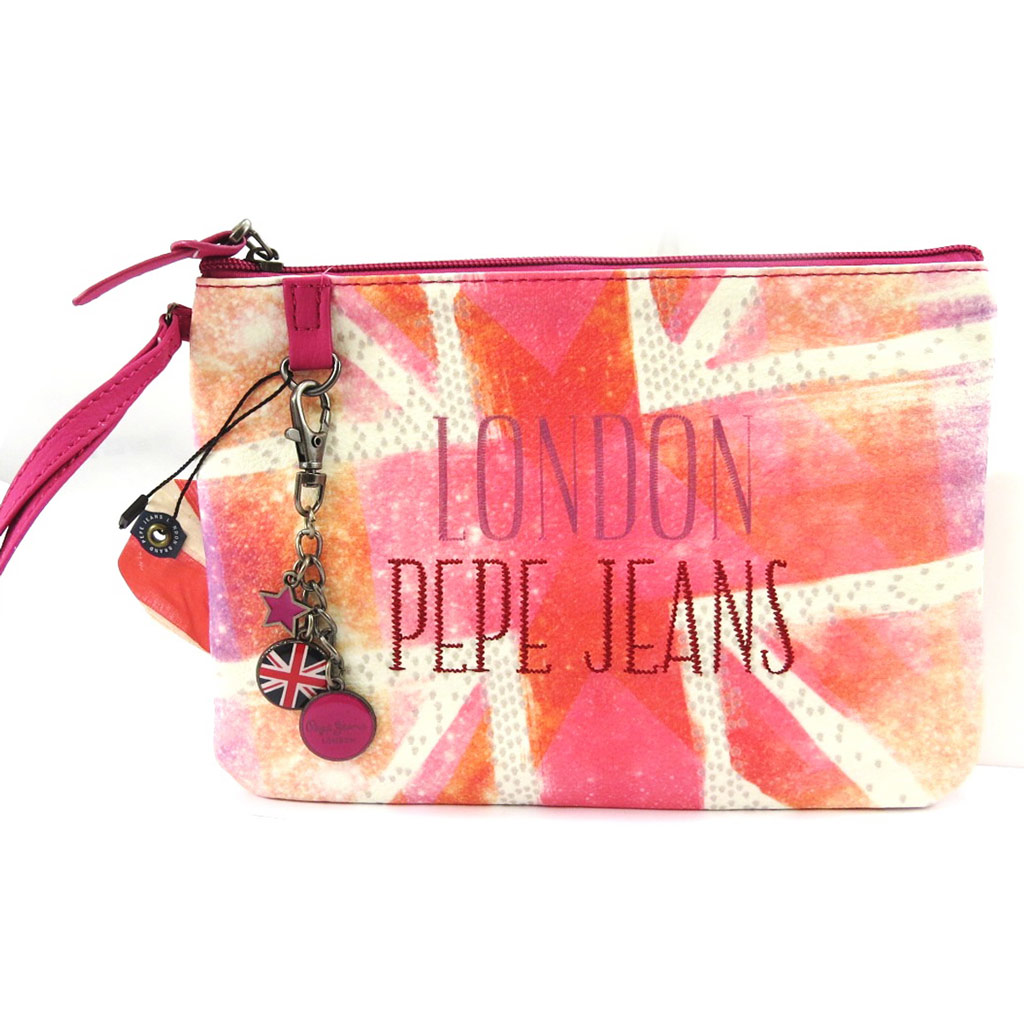 Housse ordinateur portable \'Pepe Jeans\' rose union jack (7\') - [L6848]