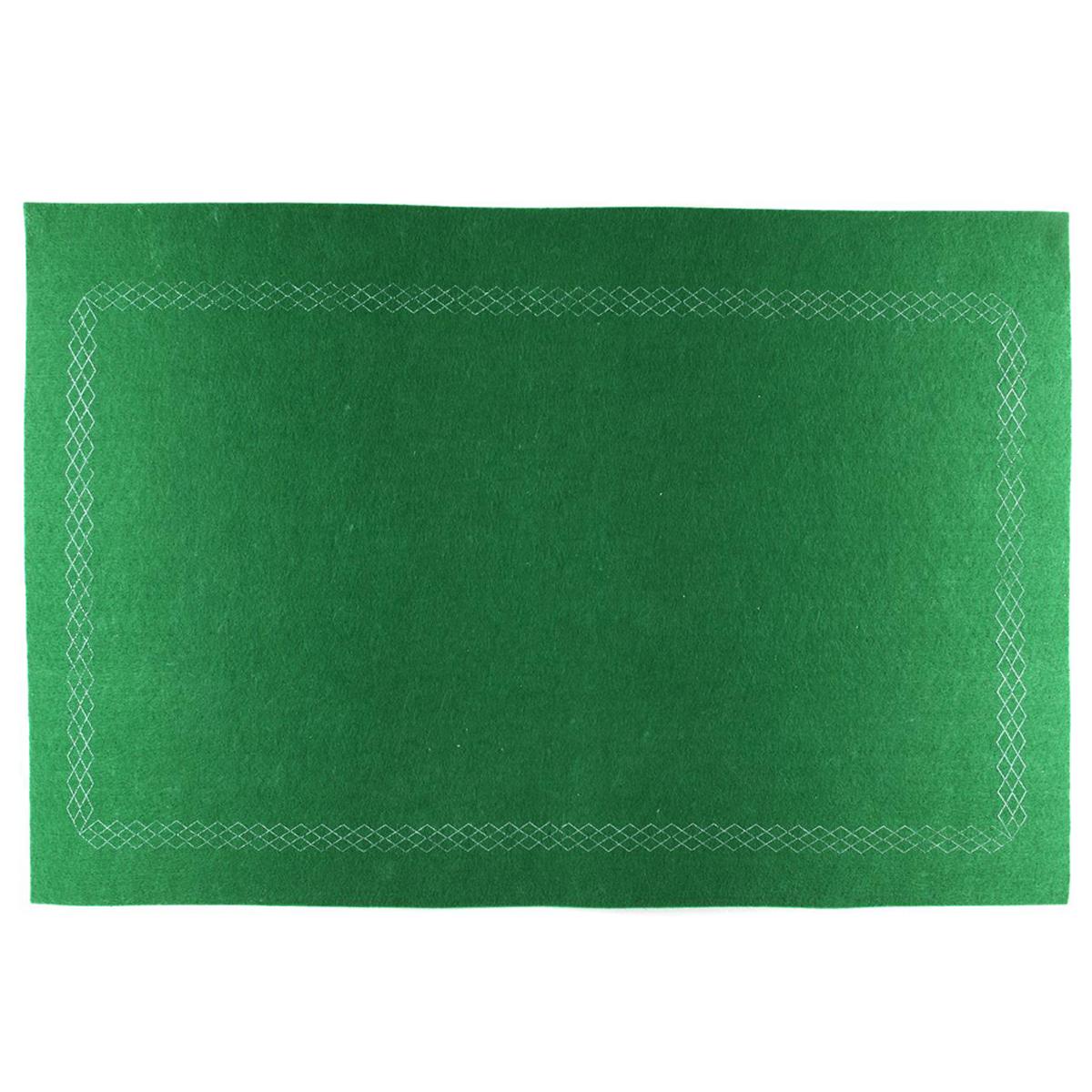 Tapis de jeu \'Jeu de Cartes\' vert - 60x40 cm - [Q4444]
