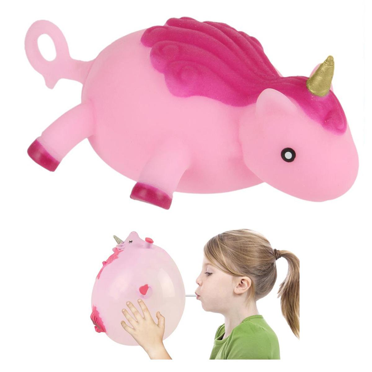 Ballon créateur \'Licorne My Unicorn\' rose - 9x8x4 cm (jusqu\'à 25 cm) - [Q4448]