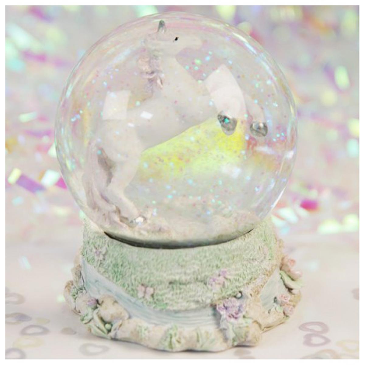 Boule à eau \'Licorne My Unicorn\' blanc multicolore - hauteur 12 cm - [Q4488]