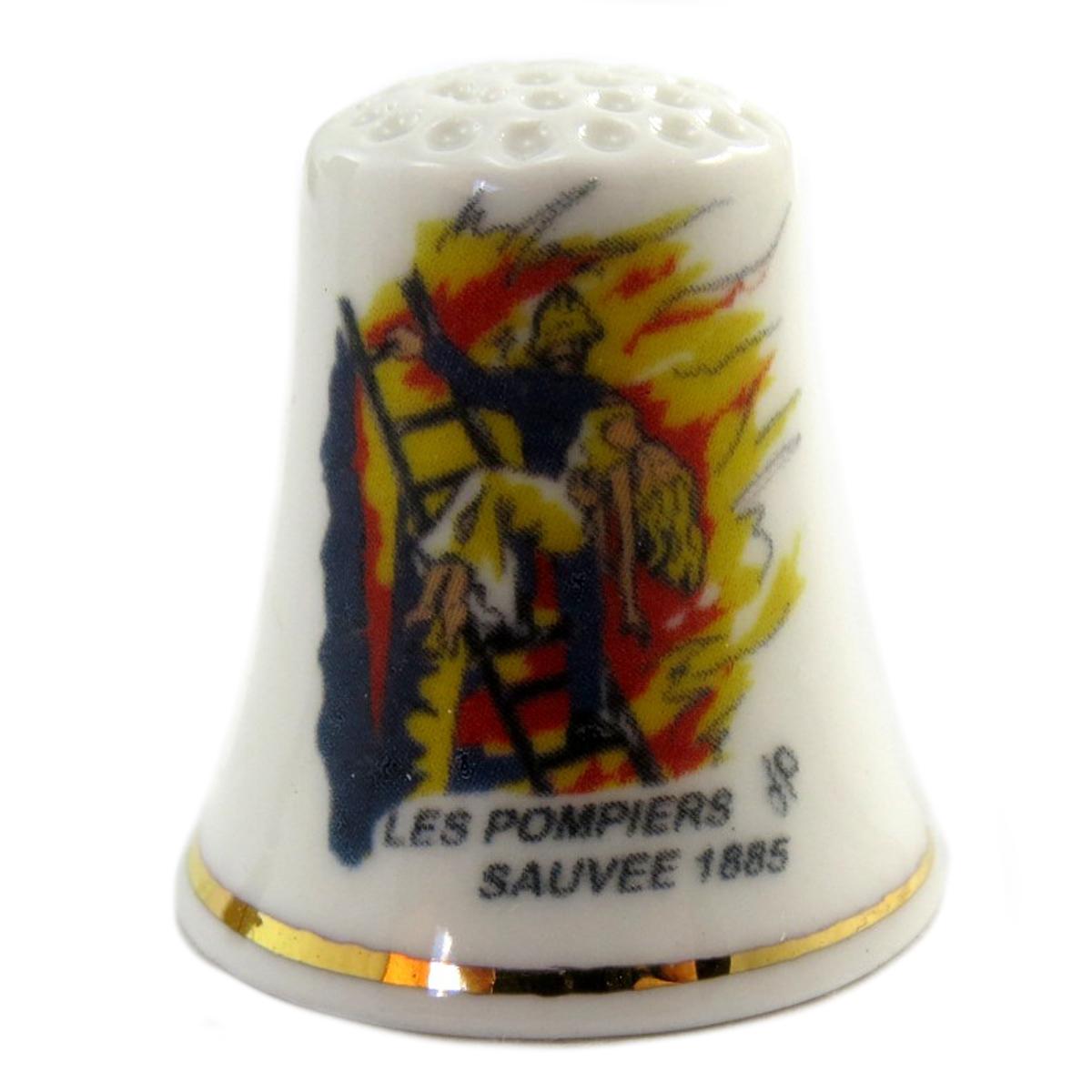 Dé à coudre \'Les Pompiers\'  - [Q4940]