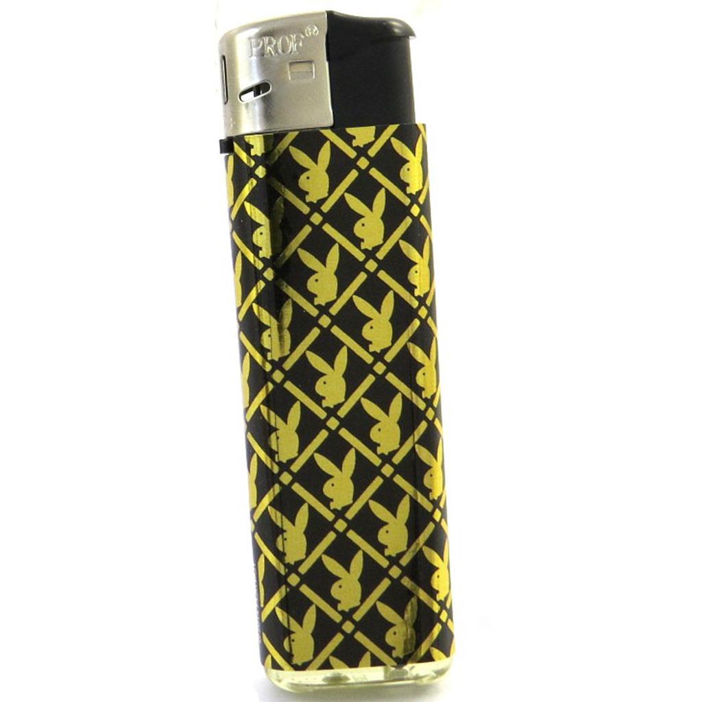 Briquet \'PlayBoy\' noir doré - [L7741]