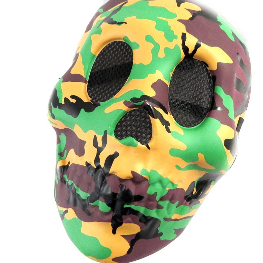 Masque de déguisement \'Camouflage\' vert marron - [L7792]