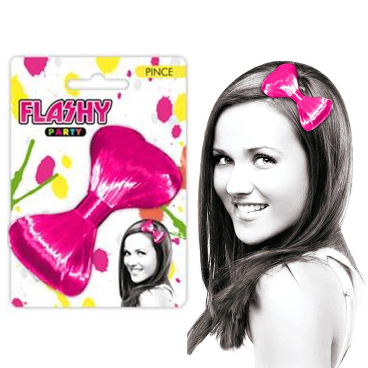 Barrette \'Coloriage\' rose (faux cheveux) - 12x85 cm - [Q5004]