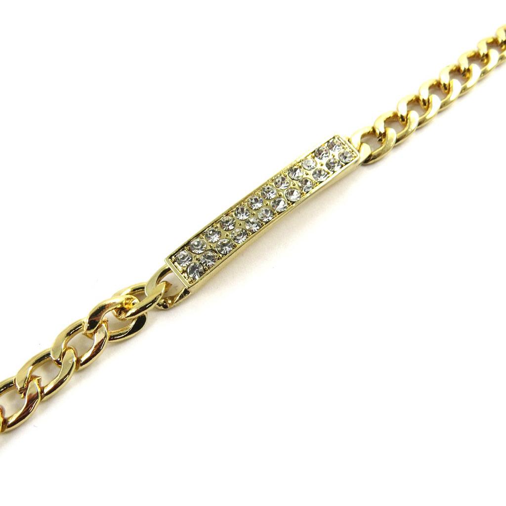 Bracelet \'Déesse\' blanc doré - [L7900]