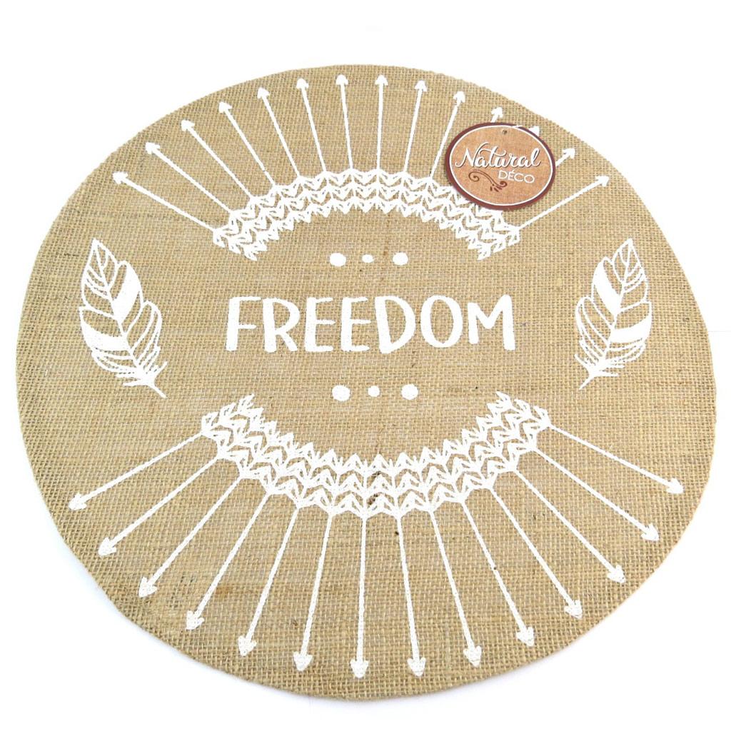 Set de table toile de jute \'Boho\' beige (freedom) - 385 cm - [P8844]