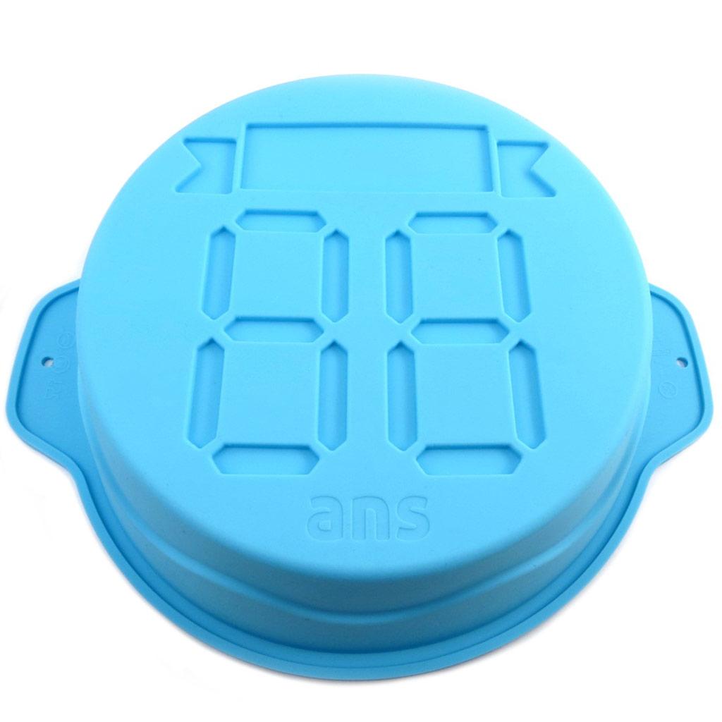 Moule silicone \'Anniversaire\' universel bleu - 22x75 cm - [P8917]