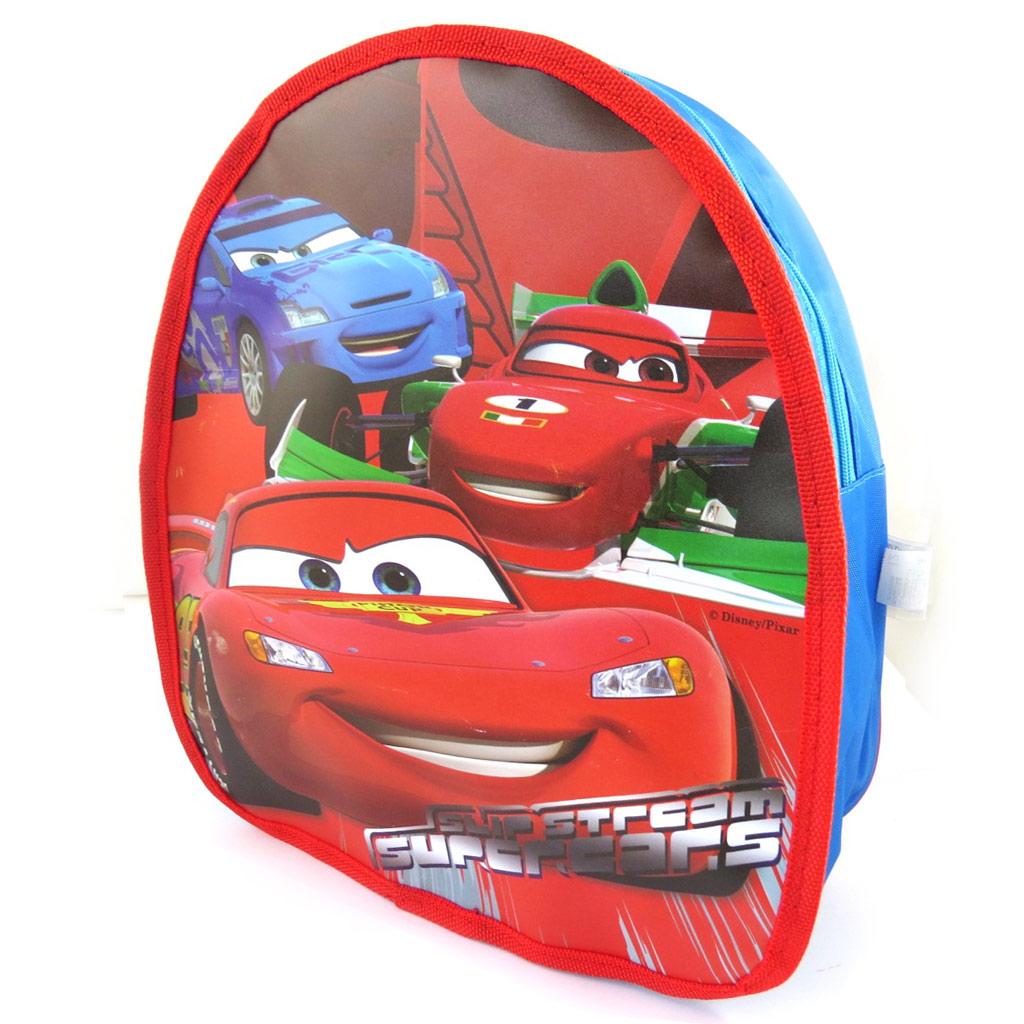Sac à Dos \'Cars\' rouge bleu (30x25x10 cm) - [L8005]