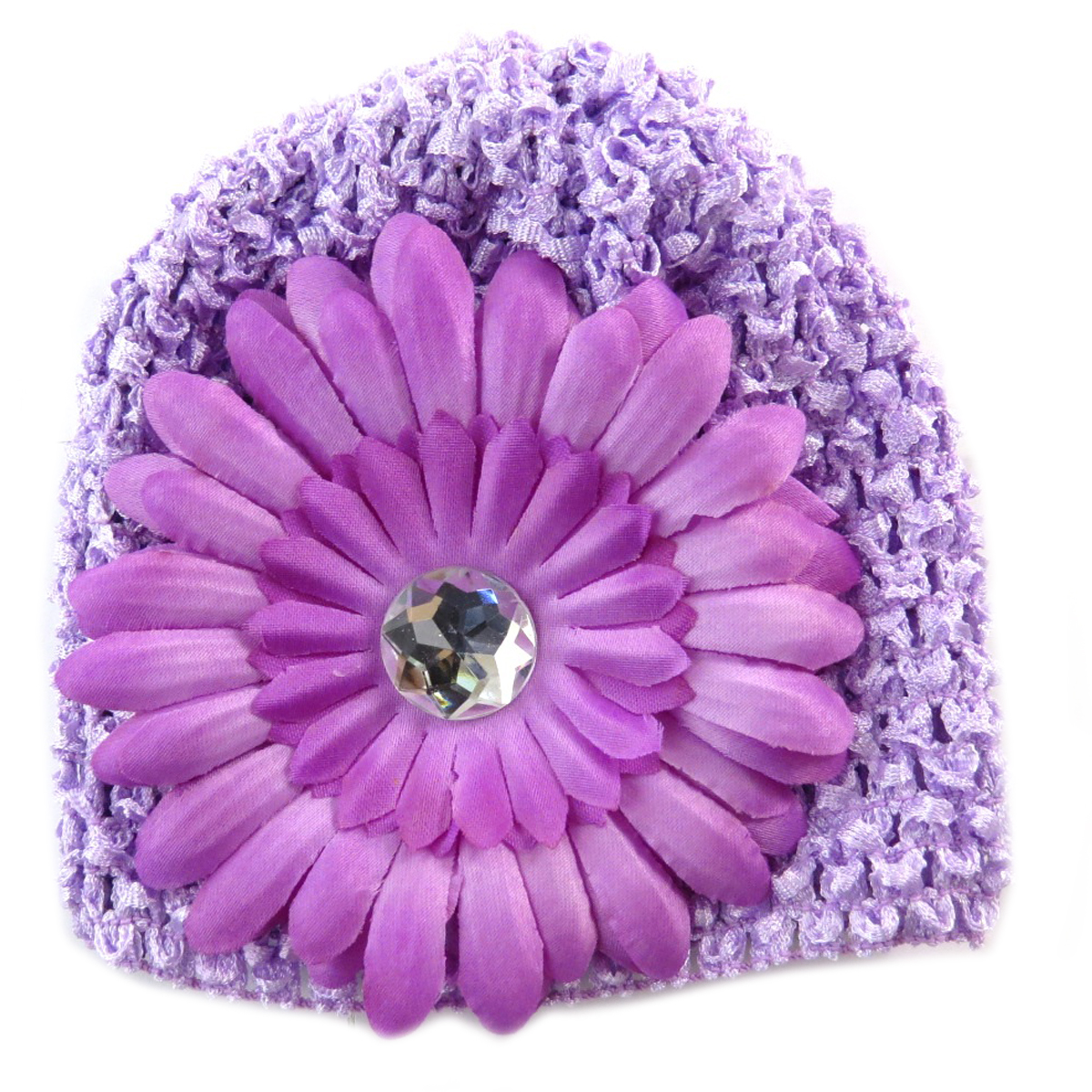 Bonnet enfant \'Petite Lily\' lavande - [Q5216]