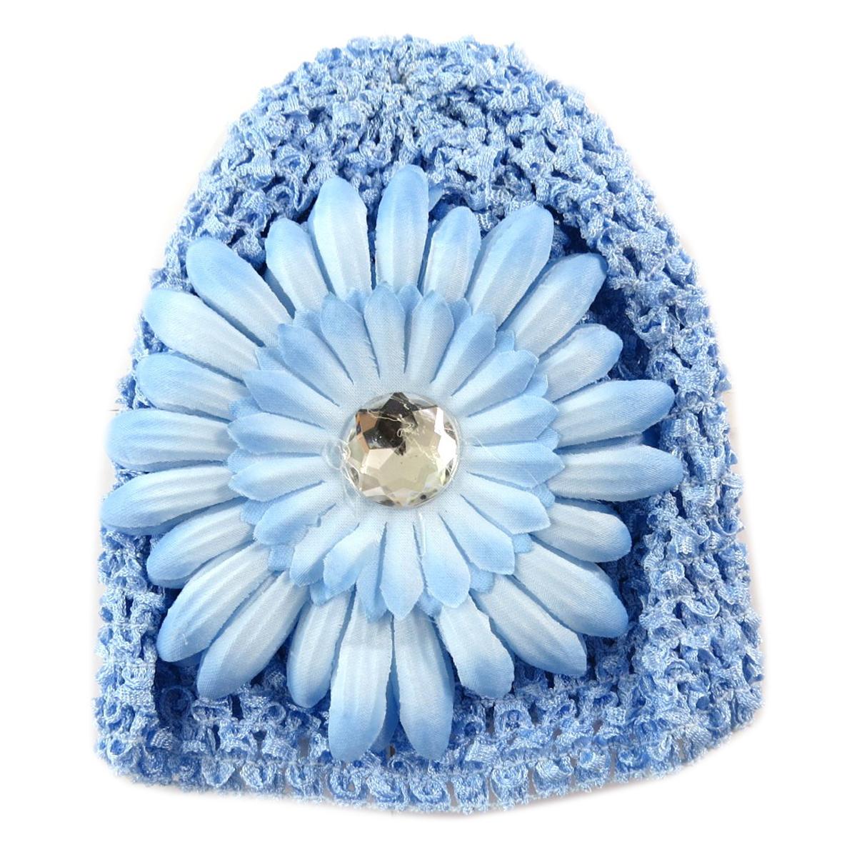 Bonnet enfant \'Petite Lily\' bleu ciel - [Q5221]